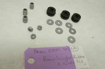 BMW F800ST REAR LIGHT RUBBERS & NUTS KIT (CON-B)